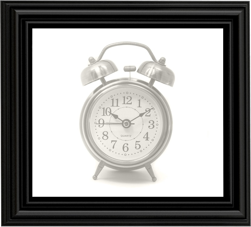 Clock in a frame