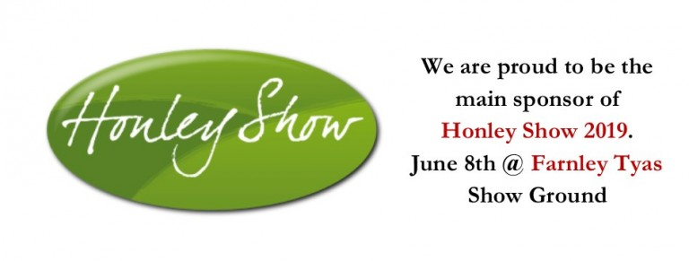 We are the sponsors of Honley Show 2019